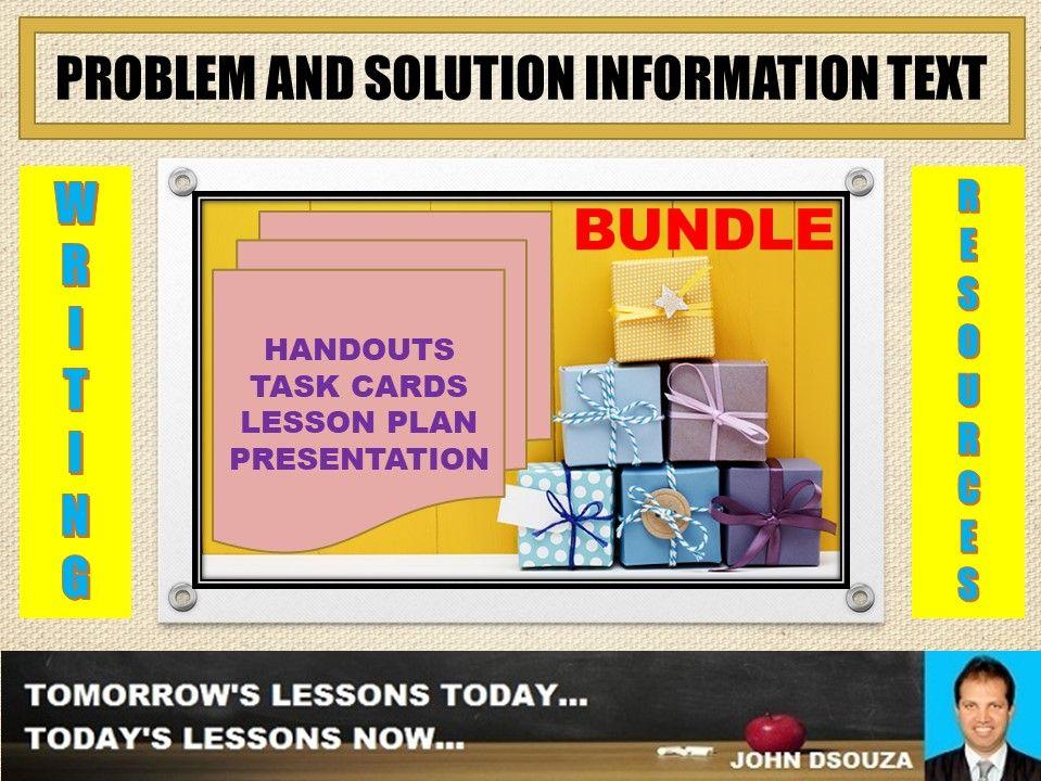 PROBLEM AND SOLUTION INFORMATION TEXT BUNDLE