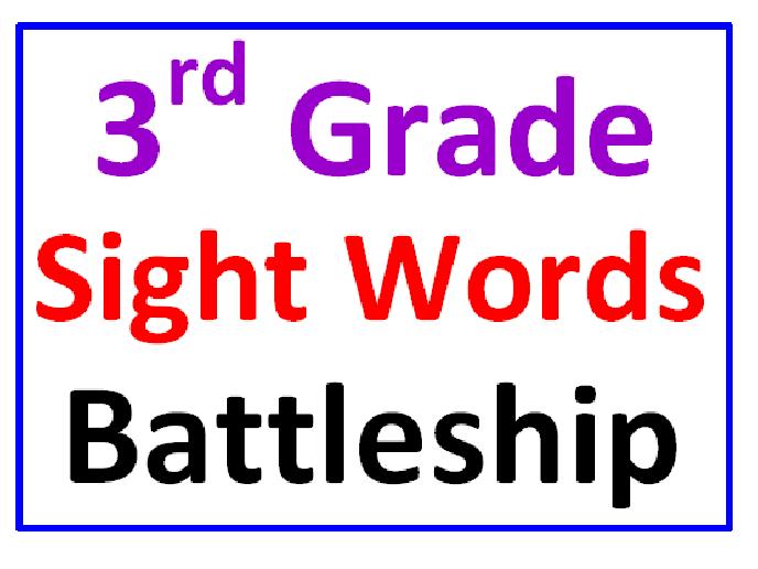 Sight wordsthird grade james test papers