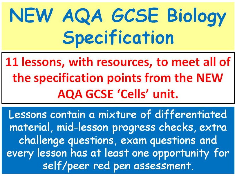 NEW AQA GCSE Biology - 'Cells' lessons
