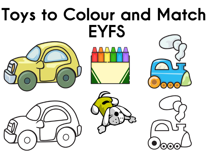 Toys to Colour and Match EYFS