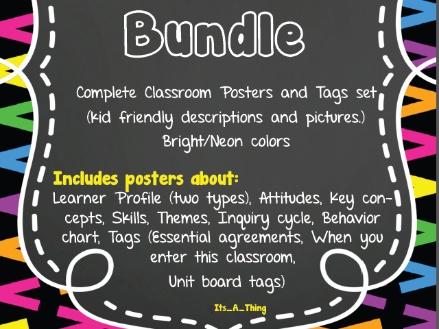 IB PYP Bundle  - Everything you need for having your classroom set for years!