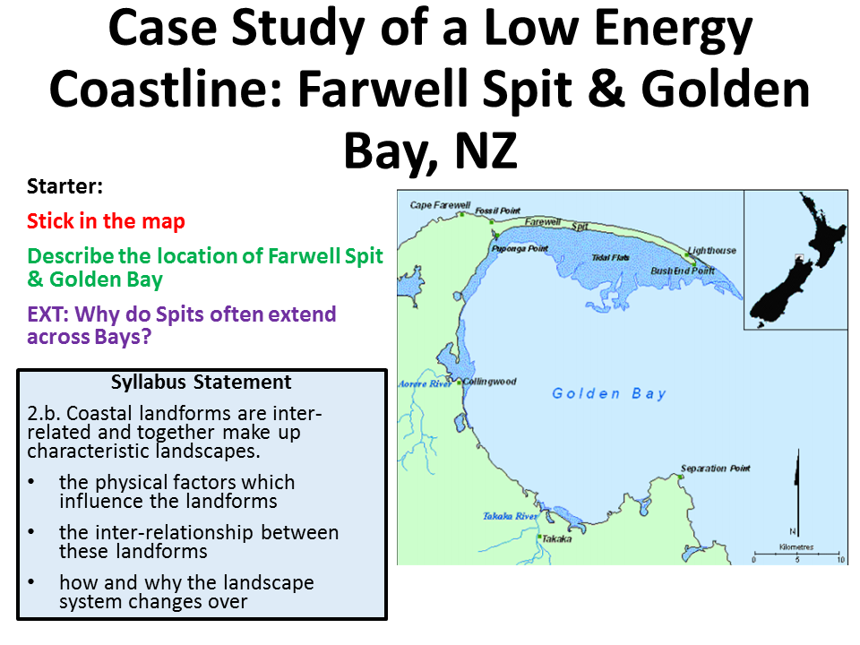 NEW OCR B A-level. Case Study of a Low Energy Coastline: New Zealand.