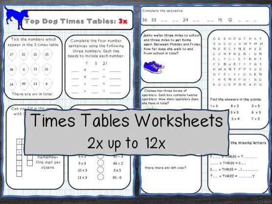 Maths Mastery Times Tables Activities.