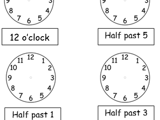 o 39 clock and half past drawing hands on clocks 2 worksheets by tar00 teaching resources. Black Bedroom Furniture Sets. Home Design Ideas