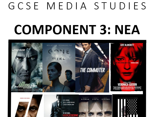 Eduqas GCSE Media Studies Comp 3 Film Posters & DVDs (Thriller) Pupil Booklet