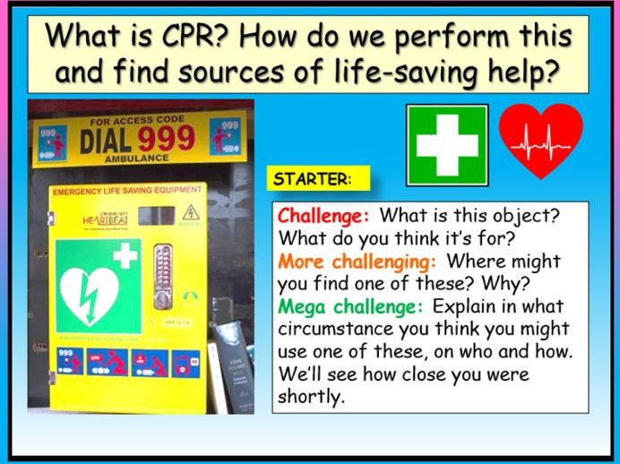 First Aid : CPR PSHE