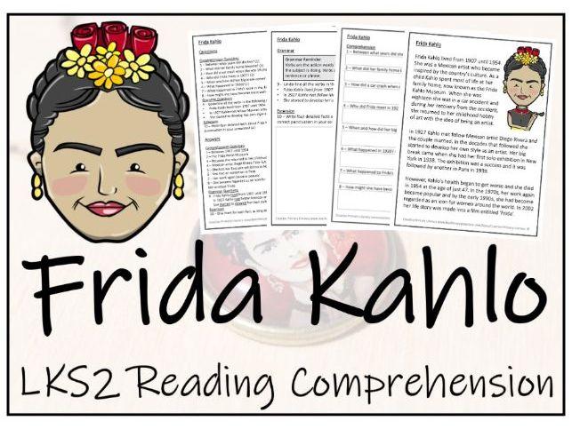 LKS2 Frida Kahlo Reading Comprehension Activity