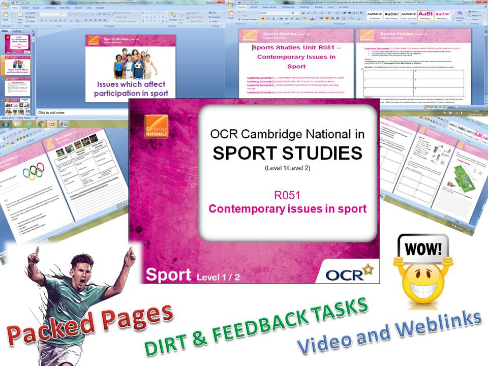 Cambridge Nationals R051 Student Workbook