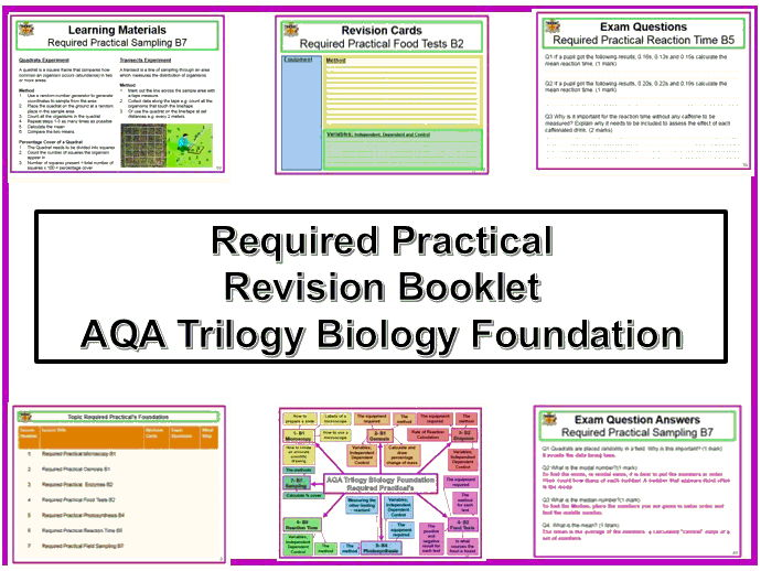 AQA Trilogy Biology Foundation Required Practical Revision Booklet