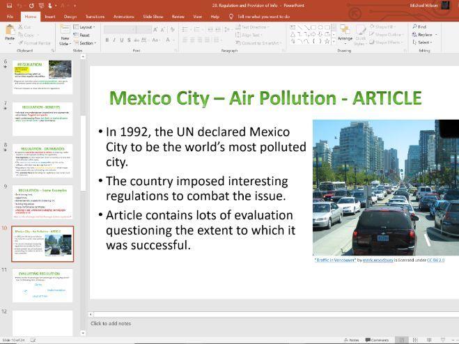 28. Regulation (Slides, Activities and Notes) - Edexcel A-Level Economics - Theme 1
