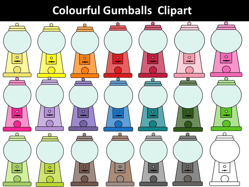 Gumball Machines Clipart