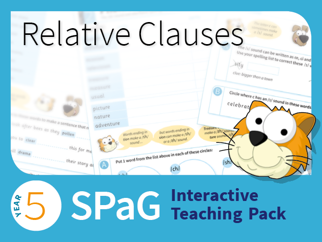 Year 5 SPaG Interactive Teaching Pack - Relative clauses