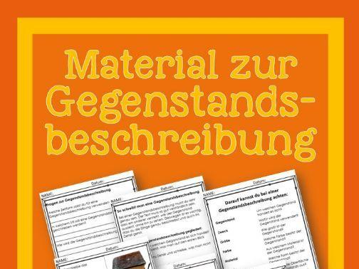 German- Gegenstandsbeschreibung