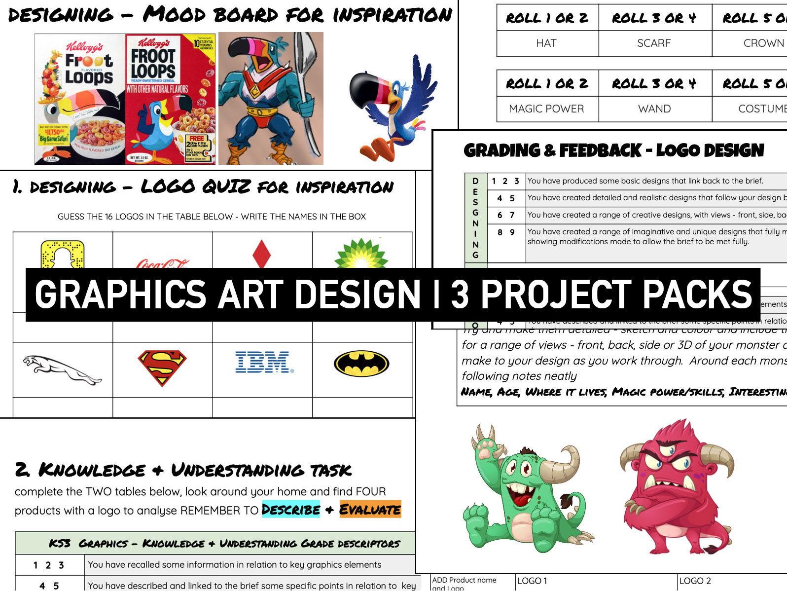 GRAPHIC DESIGN | Booklet BUNDLE | KS3 DT
