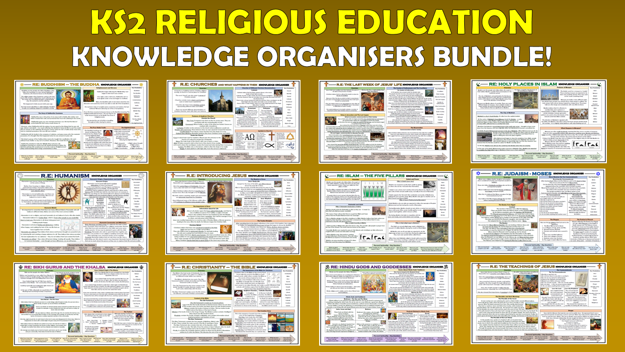 KS2 RE Knowledge Organisers Bundle!