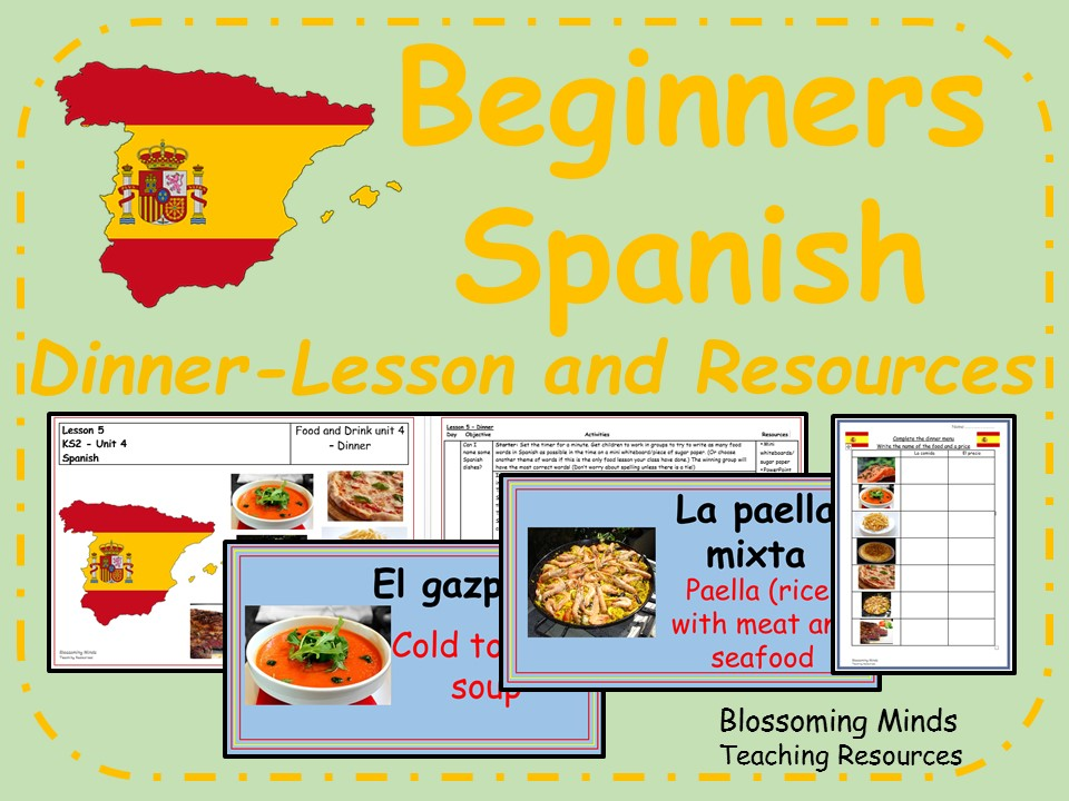 Spanish Lesson and Resources - KS2 - Dinner
