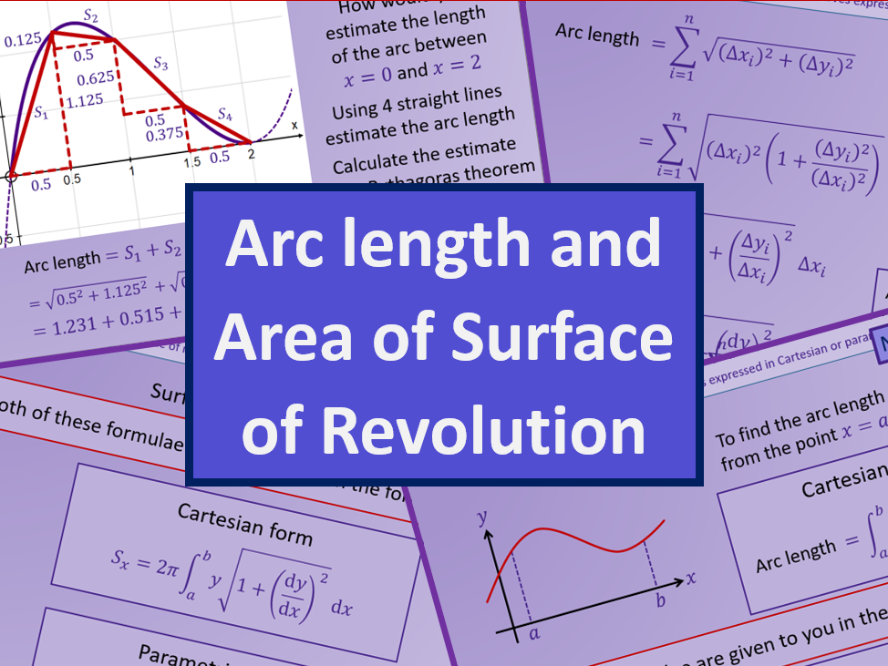 Arc length and Surface area - Further maths A level A2