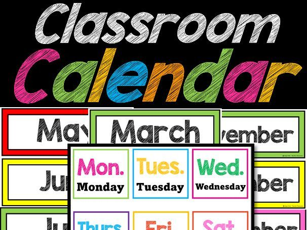 Calendar , Days of the Week, Months , Numbers, Days in School | Back to School