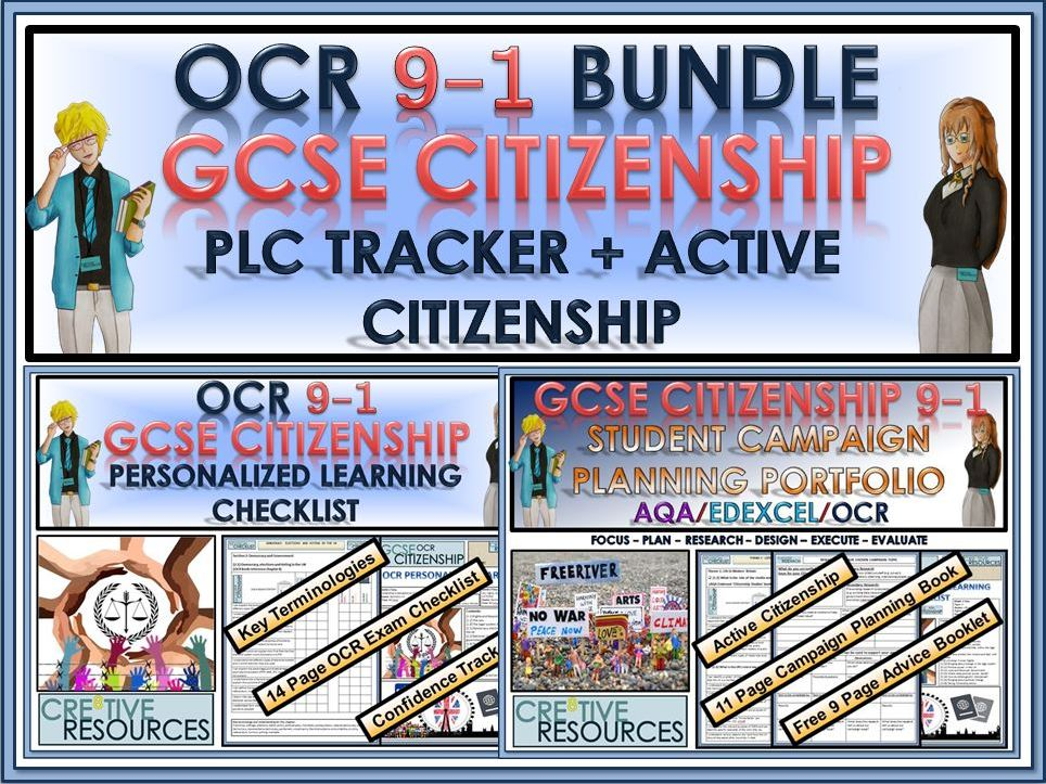GCSE Citizenship (9-1) OCR - PLC Tracker + Active Citizenship Bundle