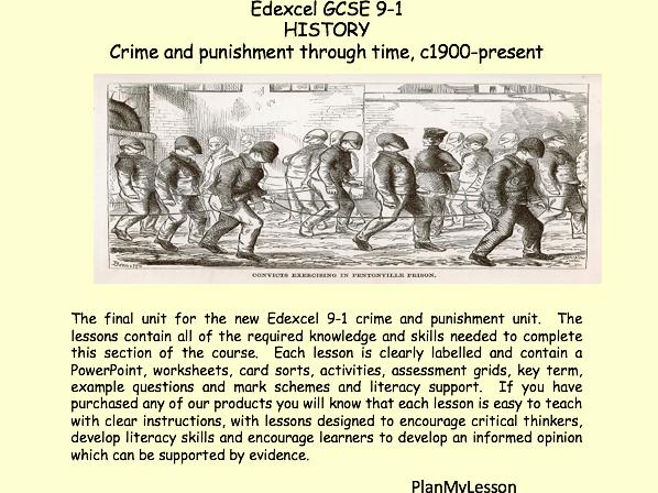 Edexcel GCSE 9-1 History Crime and Punishment c1900 - present