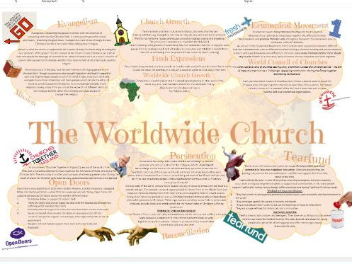 Christian Practices: Worldwide Church, Persecution and Reconciliation Learning Mat