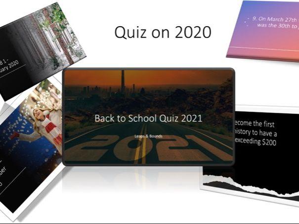 Back to School 2021 Quiz