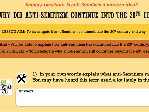 Why did anti-Semitism continue in the 20th Century