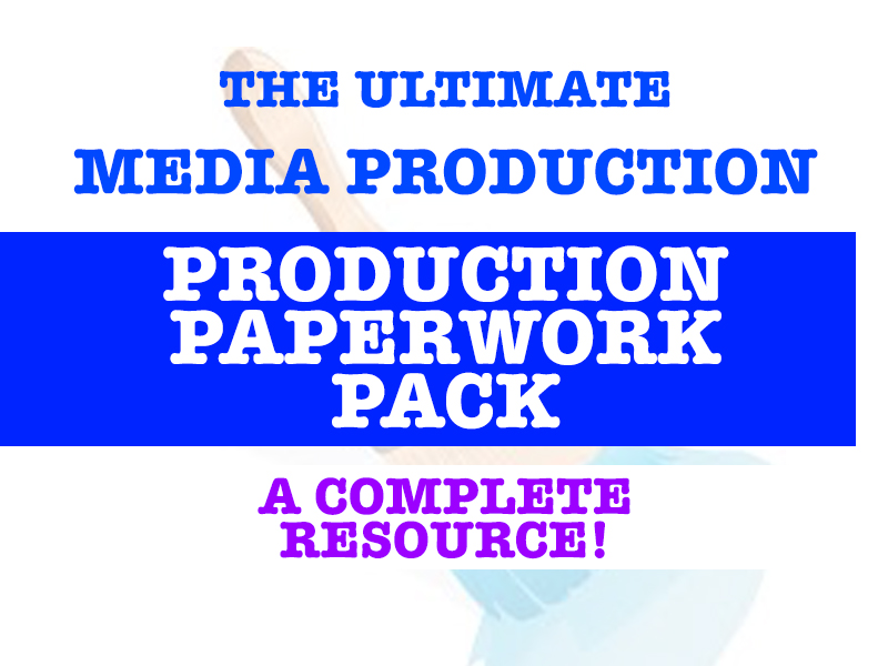 Ultimate Media Production Paperwork Document!