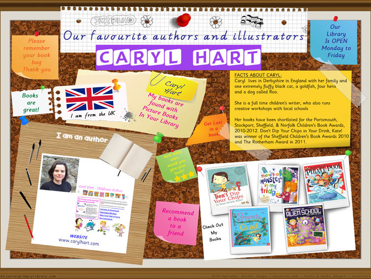 Library Poster - Caryl Hart UK Of Author Picture & Chapter Books