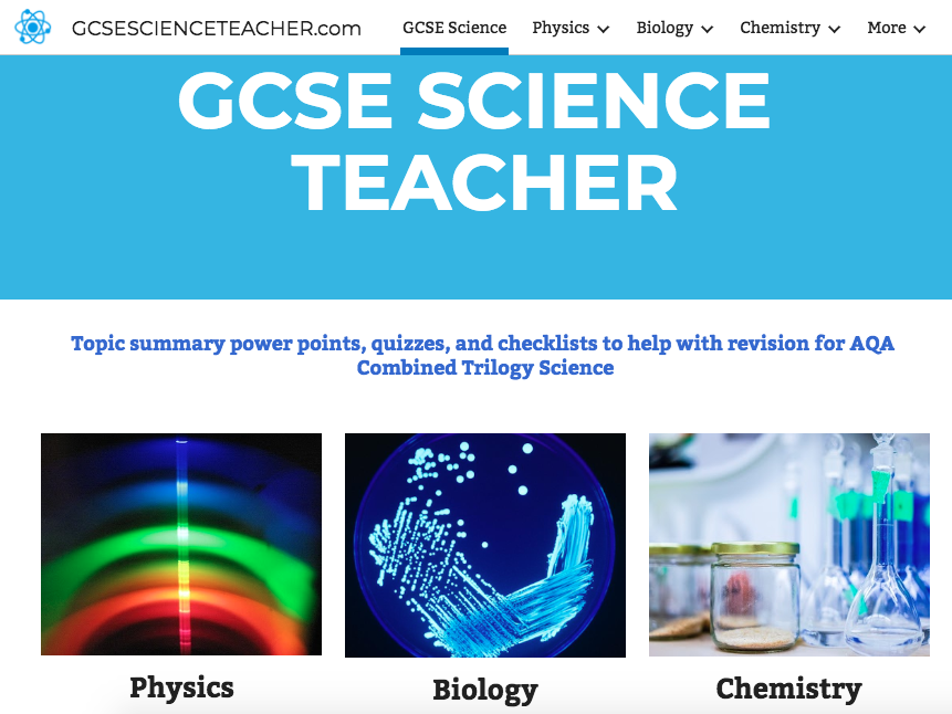 Revision Website for AQA Combined Trilogy Science