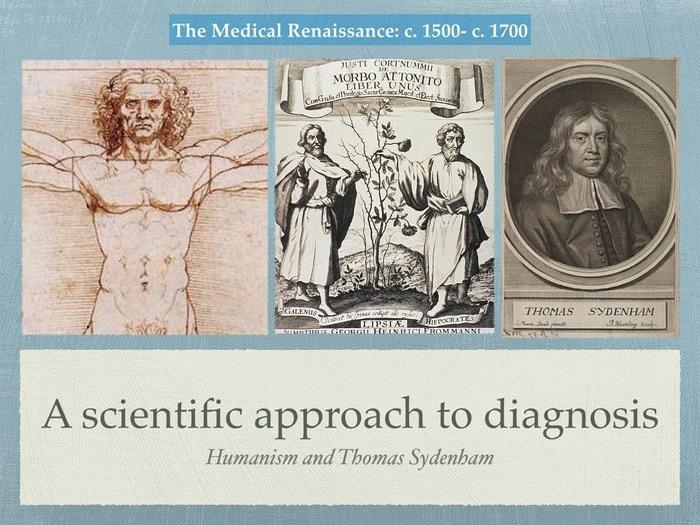 Edexcel GCSE History of Medicine. Renaissance, a scientific approach to diagnosis