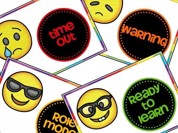 Emoji Themed Behaviour Management Chart Cards
