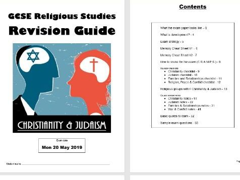 Full revision guide for AQA 9-1 Religious Studies SC with Christianity & Judaism options