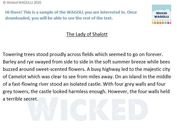Narrative of The Lady of Shalott