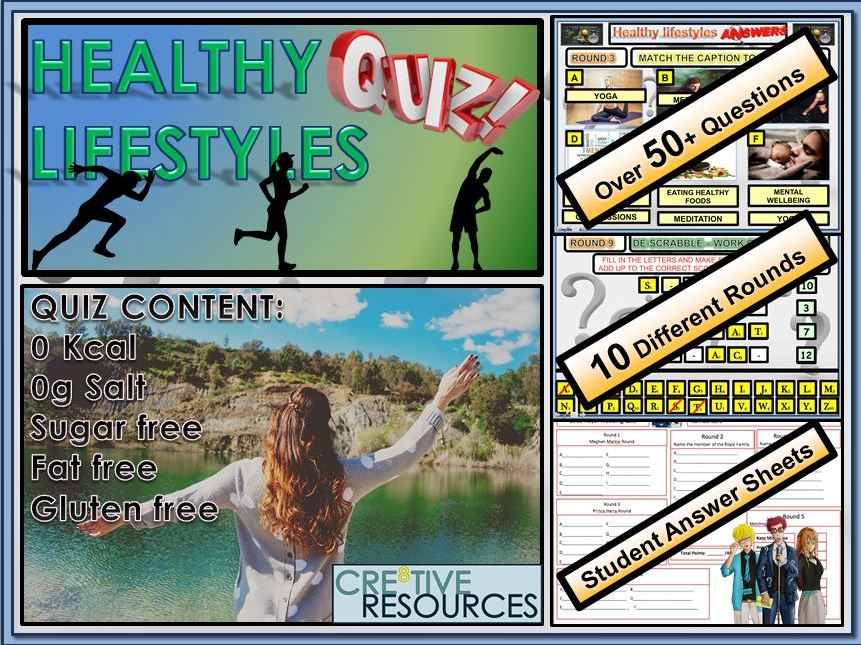 PSHE Healthy Lifestyles Quiz Lesson