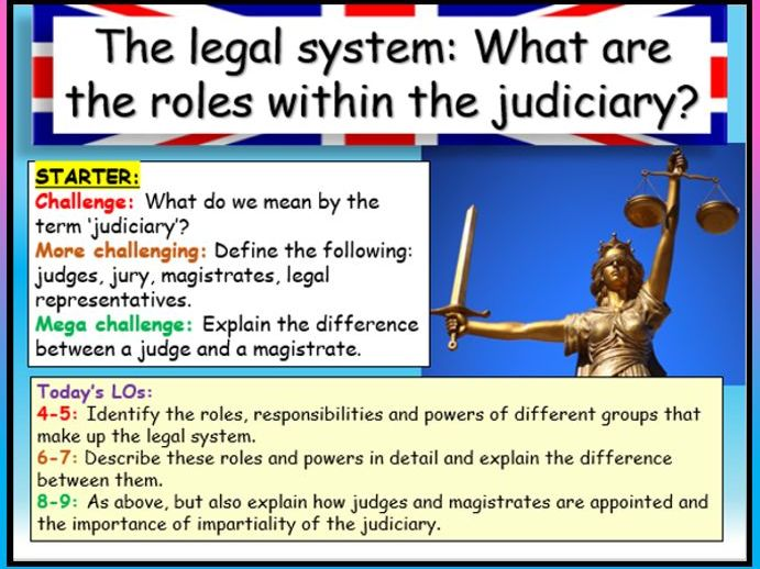 Magistrates + Judiciary - Edexcel Citizenship
