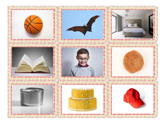 Common Nouns Kindergarten Card Game