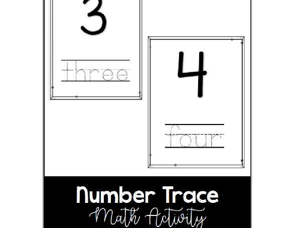 Number Trace - Math Activity