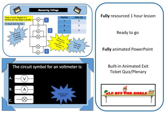 Electricity - Voltage in Series and Parallel Circuits KS3- Animated PowerPoint and Resources