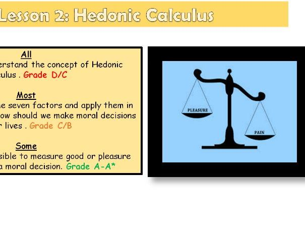 Utilitarianism Lesson 2: Hedonic Calculus (OCR A level Ethics)
