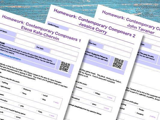 Contemporary Composers Homework Pack