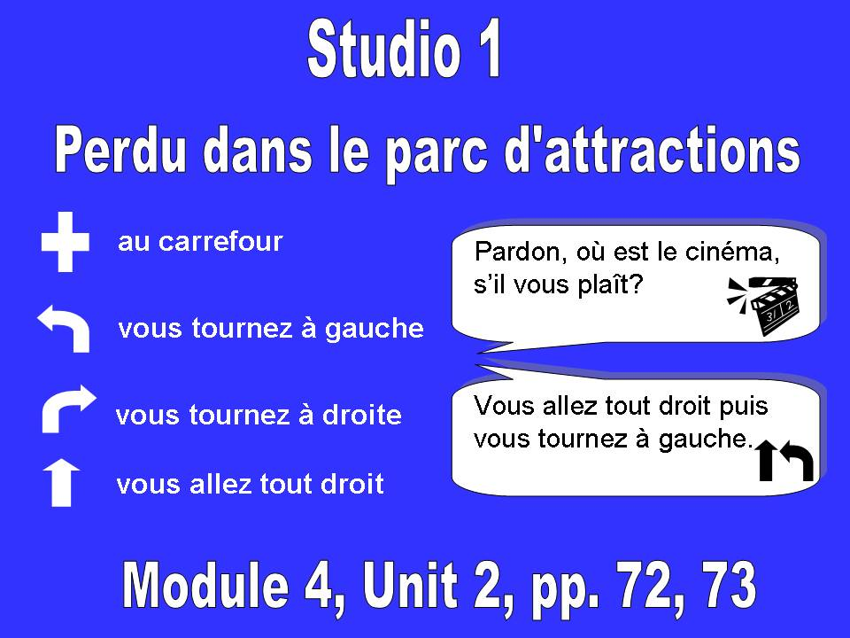 Studio 1, Module 4, Unit 2, Perdu dans le parc d'attractions
