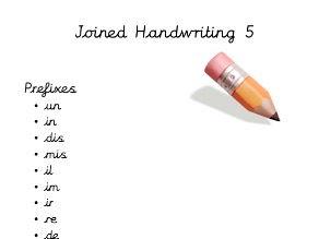 Cursive handwriting booklets 4&5 Prefixes and Suffixes