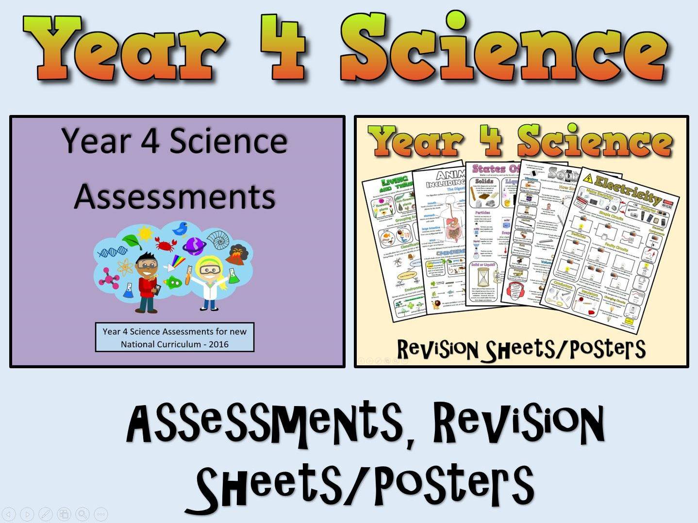 Year 4 Science Assessments + Posters/Revision Sheets