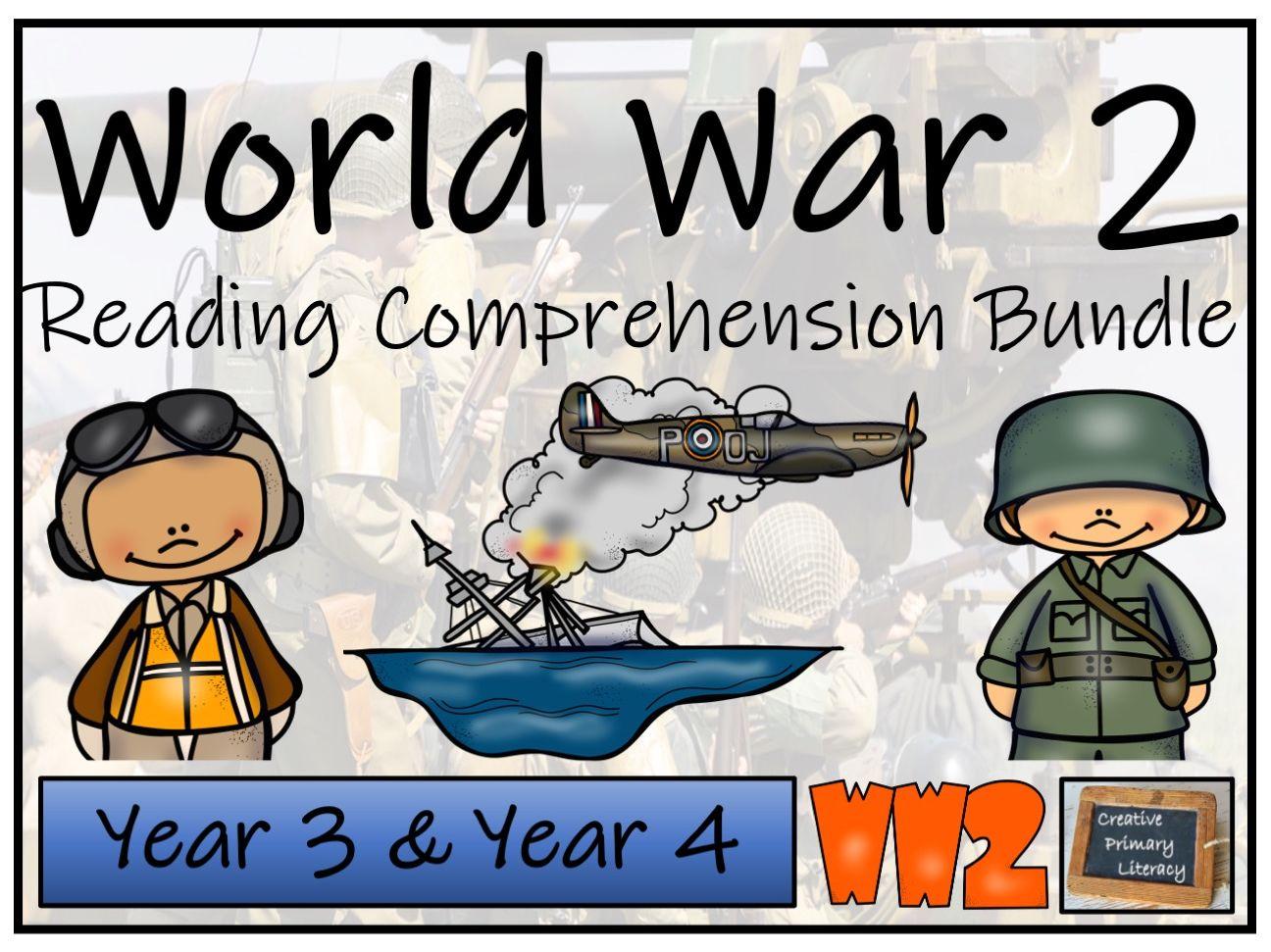 LKS2 World War II Reading Comprehension Bundle