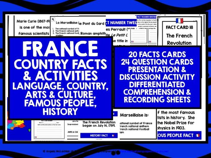 PRIMARY FRENCH FACTS ACTIVITIES 2