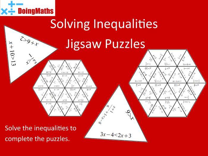 Solving Inequalities Jigsaw Puzzles - Algebra Practice