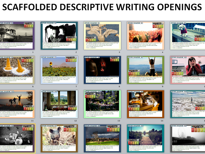 20 GCSE English Language 9-1 Scaffolded Descriptive Writing Opening Exercises