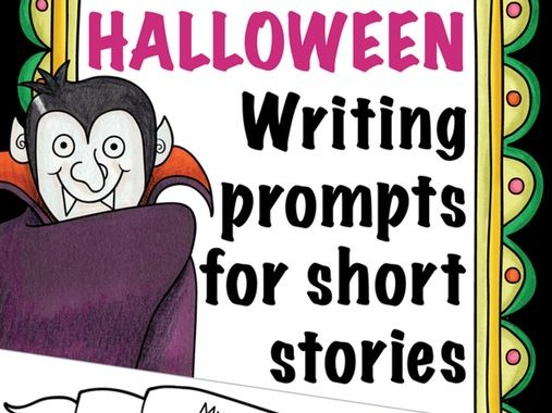 Fun HALLOWEEN writing prompts for scary short stories (ESL English)
