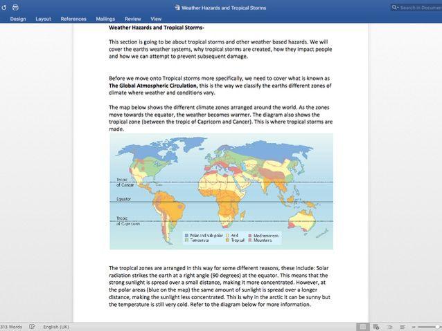Weather Hazards Notes AQA Geography GCSE